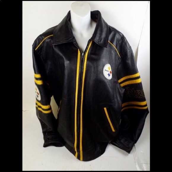pretty nice 28a74 a51d6 Men's XL Pittsburgh Steelers G3 NFL Leather Jacket
